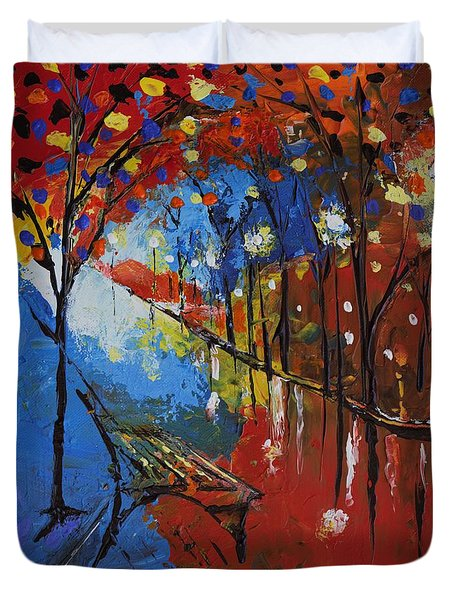 Park Bench Duvet Cover