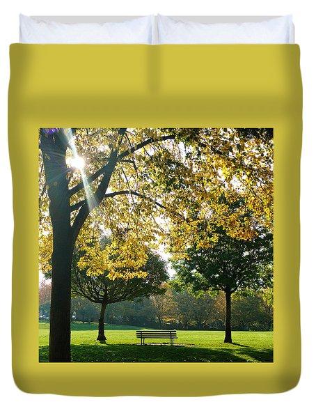 Park Bench Duvet Cover