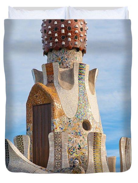 Park Guell Tower Duvet Cover