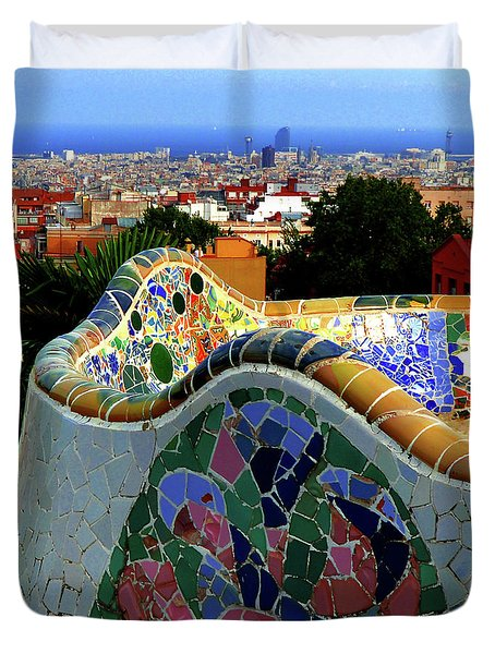 Park Guell Undulating Bench 3 Duvet Cover