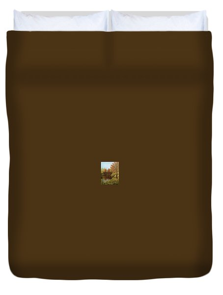 Park In Autumn Duvet Cover by Angela Stout