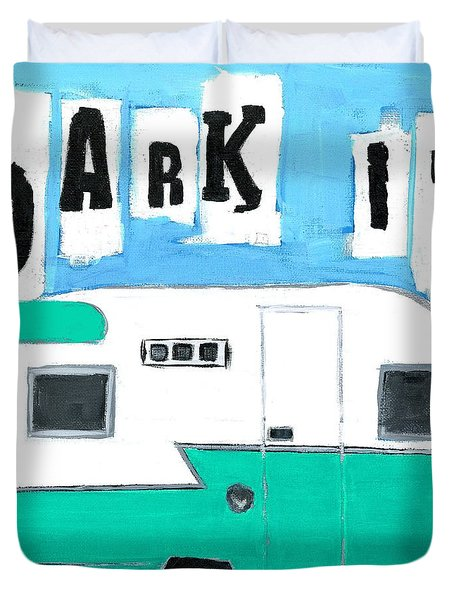 Park It-aqua Duvet Cover