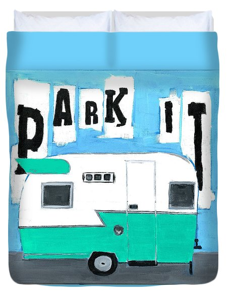 Park It-aqua Duvet Cover