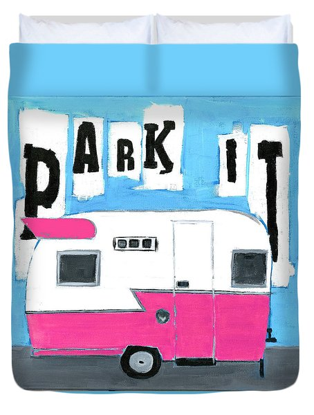 Park It- Pink Duvet Cover