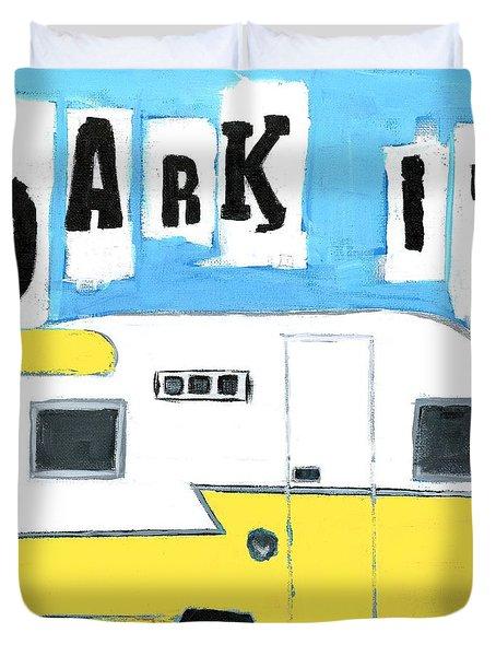 Park It-yellow Duvet Cover