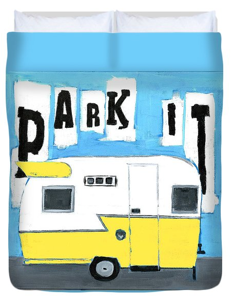 Park It-yellow Duvet Cover