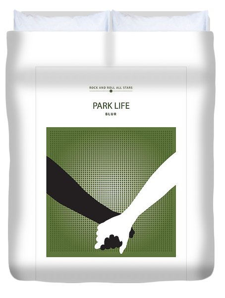 Park Life -- Blur Duvet Cover by David Davies