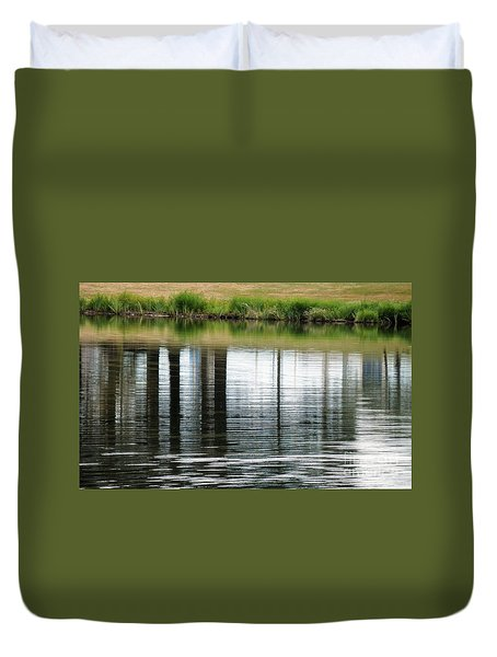 Park Reflections Duvet Cover