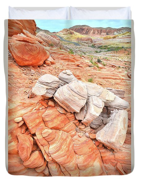 Duvet Cover featuring the photograph Park Road Sandstone In Valley Of Fire by Ray Mathis