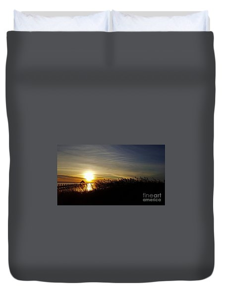 Park Sunset 3 Duvet Cover