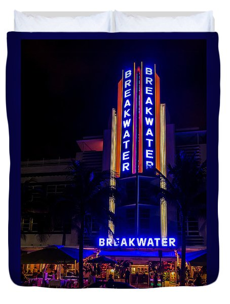 Duvet Cover featuring the photograph Parked At The Breakwater by Melinda Ledsome