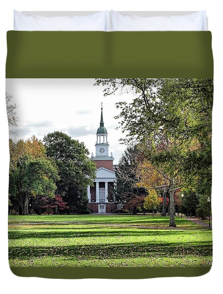 Parker Hall - Hanover College Duvet Cover