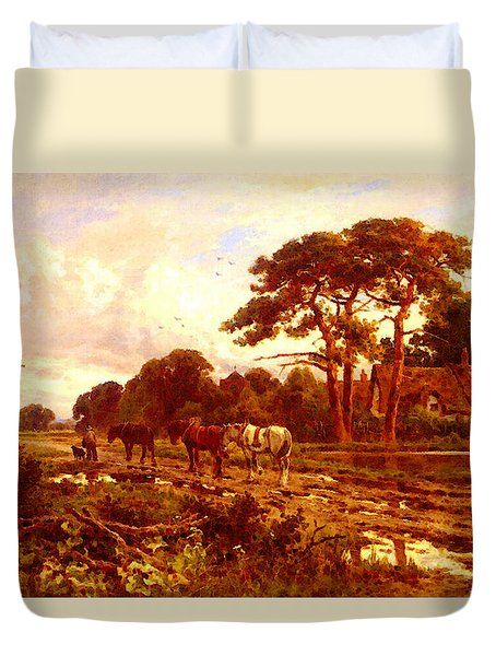 Parker Henry H The End Of The Day Duvet Cover