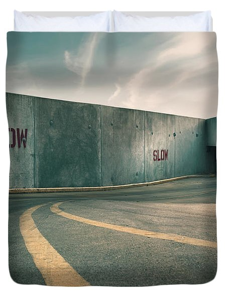Parking Garage At The End Of The World Duvet Cover