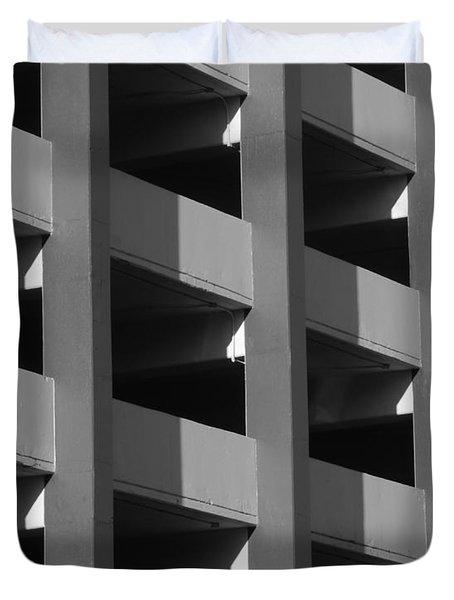 Parking Garage Milwaukee Abstract 2334 Duvet Cover