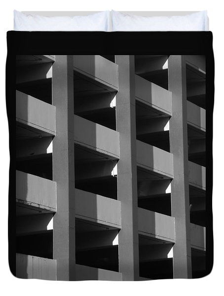 Parking Garage Milwaukee Abstract 2334 Duvet Cover