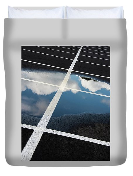 Parking Spaces For Clouds Duvet Cover