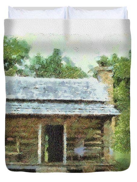 Parkway Cabin Duvet Cover by Paulette B Wright