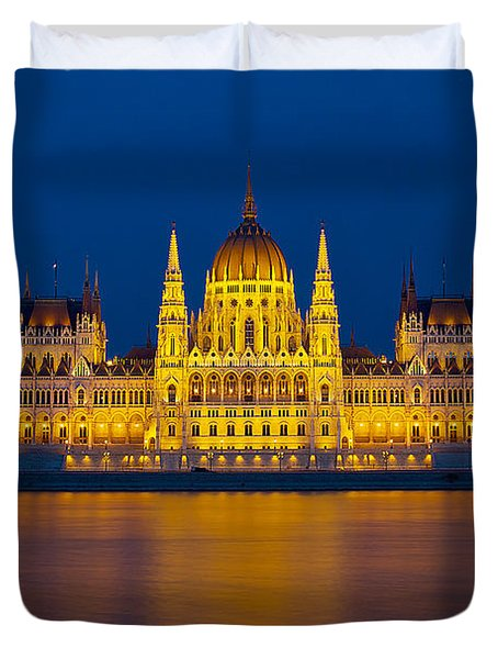 Parliament On The Danube Duvet Cover