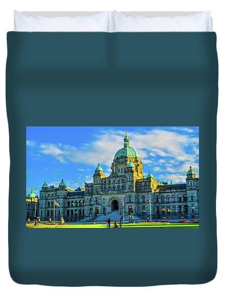 Parliament Victoria Bc Duvet Cover