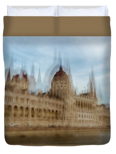Duvet Cover featuring the photograph Parliamentary Procedure by Alex Lapidus