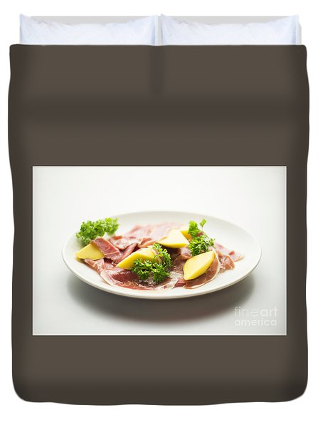 Parma Ham With Mango Starter Duvet Cover