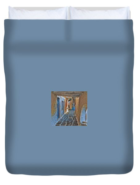 Paros Beauty Island Greece  Duvet Cover
