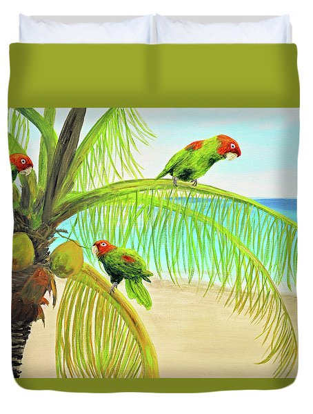 Parrot Beach Duvet Cover