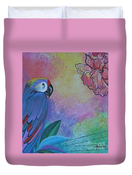 Parrot In Paradise Duvet Cover