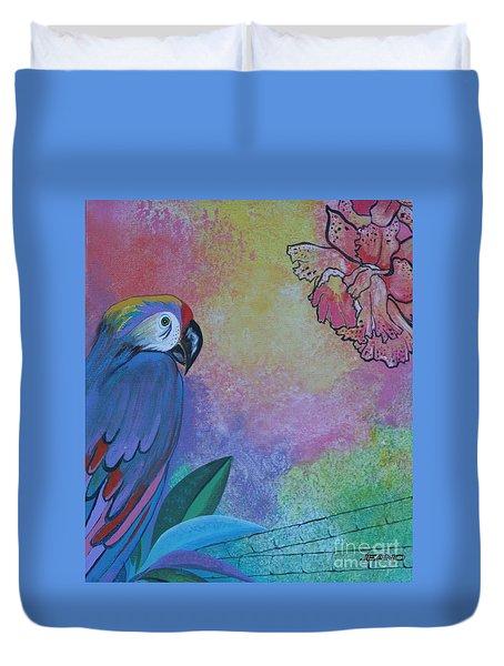 Parrot In Paradise Duvet Cover
