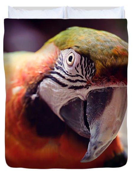 Parrot Selfie Duvet Cover by Fbmovercrafts