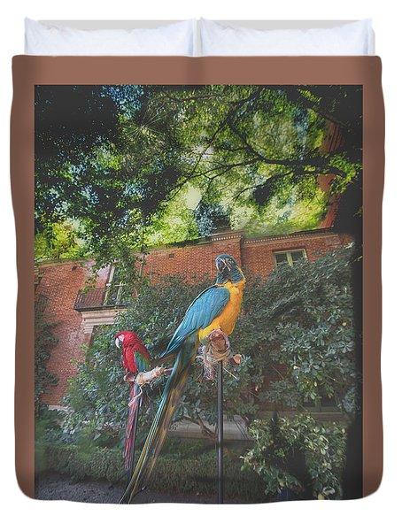 Parrots In The Garden Duvet Cover