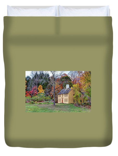 Duvet Cover featuring the photograph Parson Barnard House In Autumn by Wayne Marshall Chase