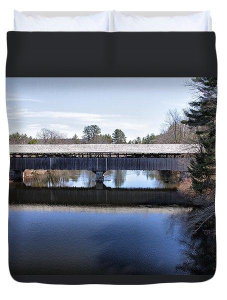 Parsonfield Porter Covered Bridge Duvet Cover