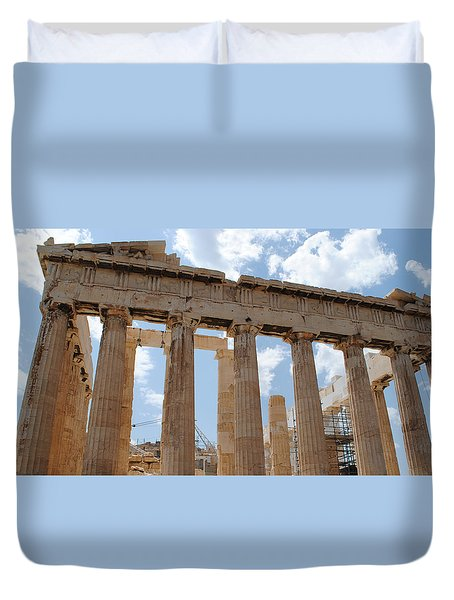 Duvet Cover featuring the photograph Parthenon by Robert Moss