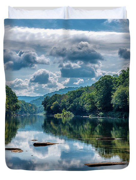 Partially Cloudy Gauley River Duvet Cover