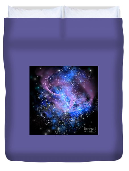 Particle Fountain Duvet Cover by Corey Ford