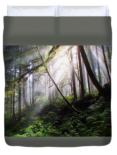Parting Of The Mist Duvet Cover
