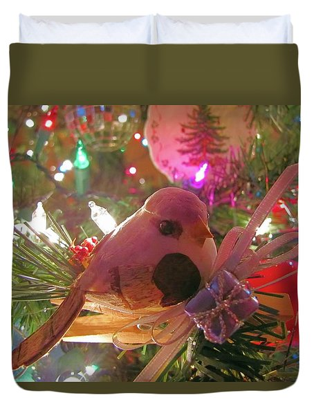 Partridge In A Christmas Tree  Duvet Cover