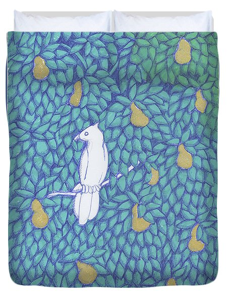Partridge Pear Tree Duvet Cover
