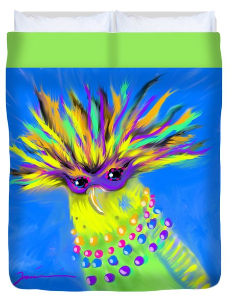 Duvet Cover featuring the digital art Party Animal by Jean Pacheco Ravinski