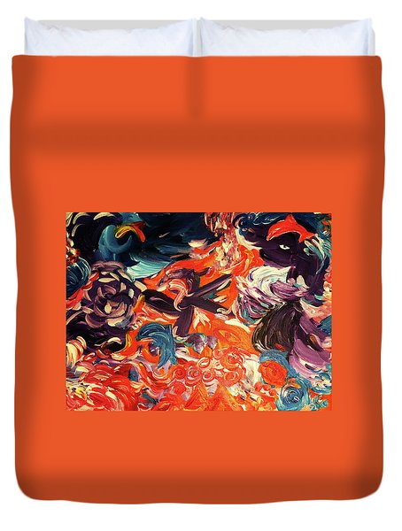 Party In A Parallel Reality Duvet Cover