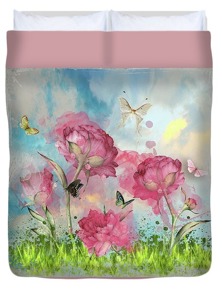 Party In The Posies Duvet Cover by Diana Boyd