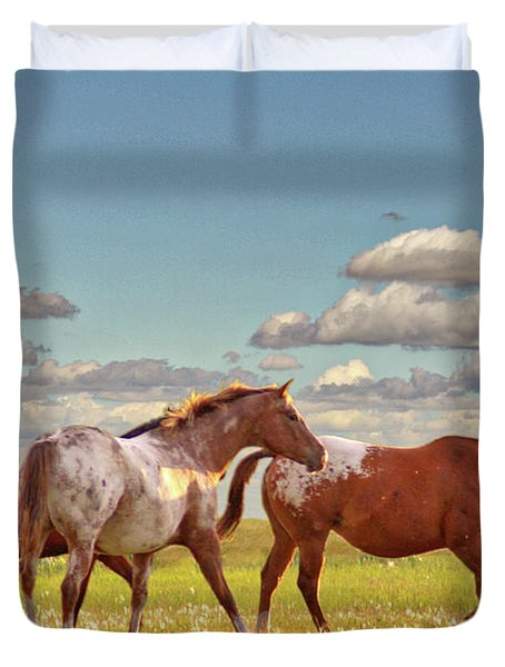 Party Of Three Duvet Cover