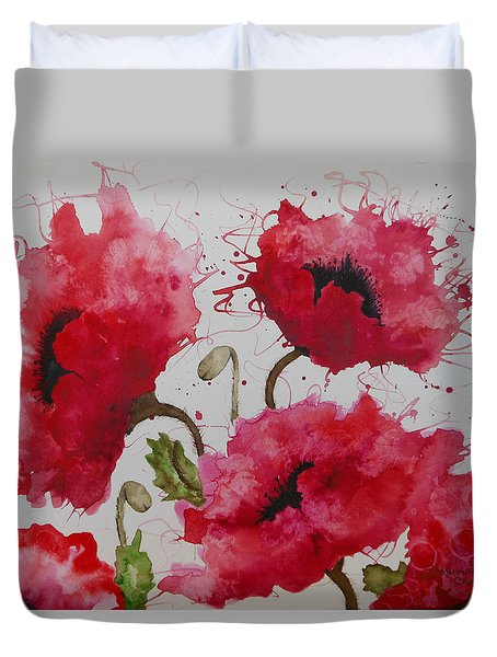 Party Poppies Duvet Cover