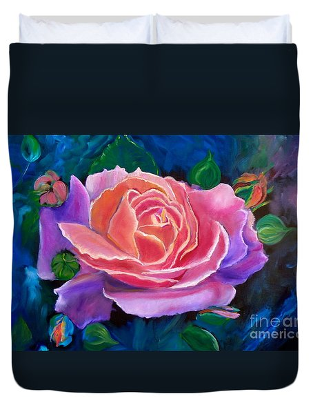 Gala Rose Duvet Cover by Jenny Lee