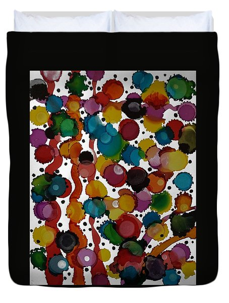 Party Time Duvet Cover by Alika Kumar