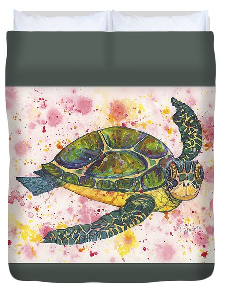 Party Turtle Duvet Cover