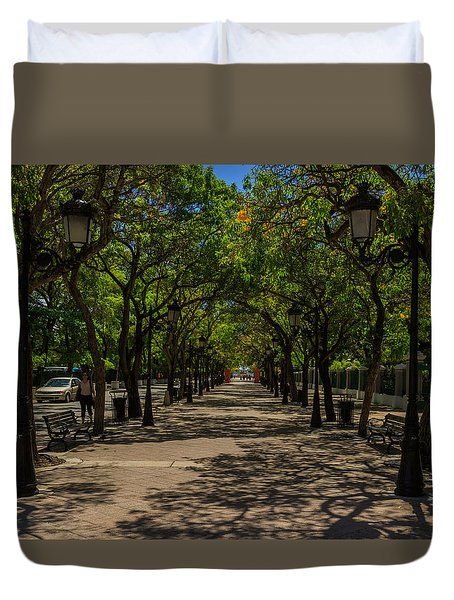 Duvet Cover featuring the photograph Paseo De La Princesa by Jose Oquendo