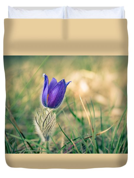 Pasque Flower Duvet Cover